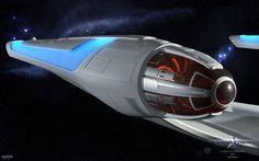 "The engine in ""offline"" Uss Eldridge Enterprise Model, Uss Enterprise, Star Trek Games, Star Trek Models, Space Car, Pretty Pregnant, Starship Concept, New Star Trek, Star Trek Characters"