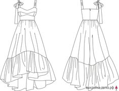 Pattern sundress with bodice-corsage (solution Dress Design Sketches, Fashion Design Drawings, Fashion Sketches, Diy Clothing, Clothing Patterns, Dress Patterns, Fashion Sketchbook, Art Sketchbook, Fashion Illustration Dresses