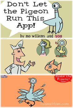 Don't Let the Pigeon Run This App! - a funny story creation app based on the hilarious book Don't Let the Pigeon Drive the Bus by Mo Willems. - from iGameMom.com --   #kidlit #creativity #writing #kidsapps