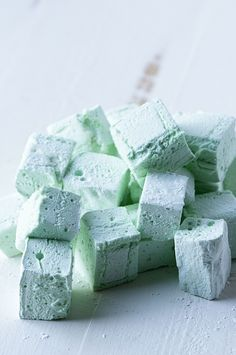 Mint Marshmallows - perfect in spiked hot chocolate!!