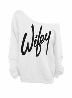 Wifey White Slouchy Oversized Sweatshirt Bride Bridesmaid Bachelorette Party   eBay