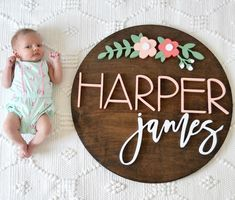 24 Floral Arch Round Name Sign - Kids Names - Ideas fo Kids Names - 24 Floral Arch Round Name Sign Cute Baby Names, Unique Baby Names, Baby Girl Names, Kid Names, Nursery Name, Nursery Signs, Girl Nursery, Girl Room, Disney Nursery