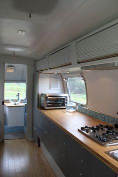 long kitchen...look at the bathroom idea