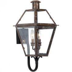 Quoizel RO8311AC - Rue De Royal Outdoor Lantern, Aged Copper