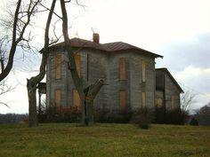 Oklahoma, Ohio  Abandoned farmhouse on Route 726 in the ghost town of Oklahoma, Ohio.