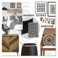 """Modern Tribal Bedroom"" by anna-anica on Polyvore featuring interior, interiors, interior design, home, home decor, interior decorating, Betsey Johnson, CB2, Safavieh and Charlene Mullen"