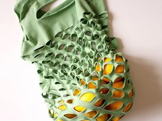 T-shirt upcycle! Great, great idea.