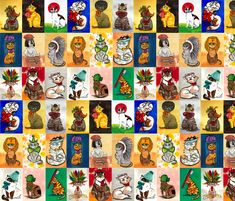 Cats With Hats fabric by nikky on Spoonflower - custom fabric