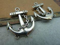 10pcs Antique Silver Anchor for Bracelet   A2089 by ministore, $3.85