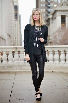 styling leather leggings.