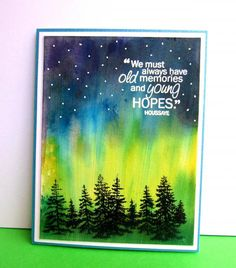 F4A284, MIX131 Northern Lights by catluvr2 - Cards and Paper Crafts at Splitcoaststampers