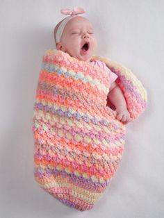 Baby Coccon , Casulo ou Saquinho de Dormir para Bebe em Croche ou Trico | lilybabyshop