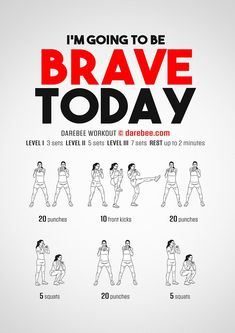 Brave Today Workout Weight Loss Workout Plan, At Home Workout Plan, At Home Workouts, Darbee Workout, Boxing Workout, Workout Ideas, Killer Workouts, Easy Workouts, Hiit