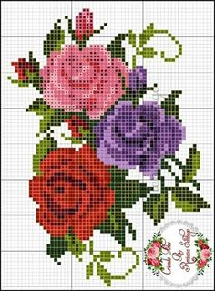 cross stitch flower graphics Related Outdoor Wood-fired Ovens Help to Jazz Up Your Backyard TimeAn easy and flavorful Huli Huli Chicken recipe with homemade pineapple-ginger Hu. Simple Cross Stitch, Cross Stitch Rose, Cross Stitch Flowers, Cross Stitch Charts, Cross Stitch Designs, Cross Stitch Patterns, Cross Stitching, Cross Stitch Embroidery, Embroidery Patterns
