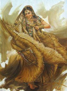 euphoria 03 - Painting, in by Laxman Kumar Artist Delhi - Painting, Oil Famous Artists Paintings, Dance Paintings, Indian Women Painting, Indian Art Paintings, Composition Painting, Family Painting, Painting Art, India Art, Art Corner