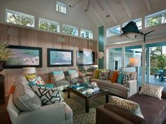HGTV Smart Home 2013 U2013 Living Room Featuring Sherwin Williams Paint Colors  Drizzle (SW