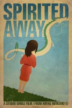 Miyazaki-inspired movie poster: Spirited Away.  #Miyazaki, #posterart
