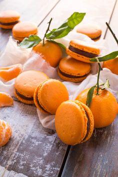 macarons chocolat noir clémentine