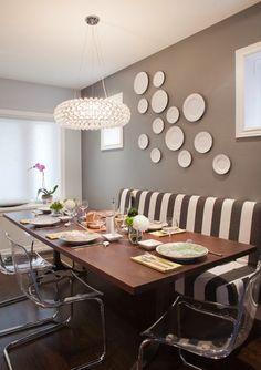 table with bench against amazing 40 beautiful modern dining room ideas. beautiful ideas. Home Design Ideas