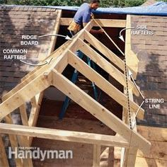 to Frame a Gabled Dormer Add dormers to the roof for light and extra space.Add dormers to the roof for light and extra space.