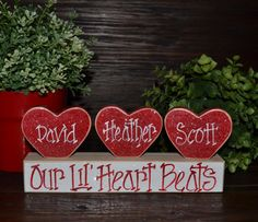 Valentine's Day Decor Personalized Family Gift by BlocksOfLove1, $7.99