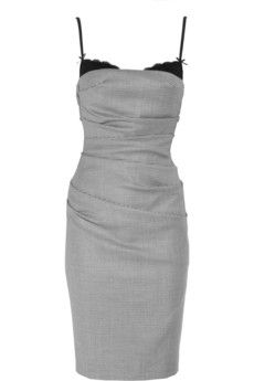 Moschino Cheap and Chic|Houndstooth wool-blend dress|NET-A-PORTER.COM - StyleSays