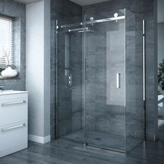 Get the Nova Frameless Shower Enclosure today, and add some spa-style to your new bathroom from Victorian Plumbing Sliding Door Panels, Frameless Sliding Shower Doors, Frameless Shower Enclosures, Sliding Door Design, Sliding Glass Door, Panel Doors, Framed Shower Door, Glass Shower Doors, Glass Bathroom