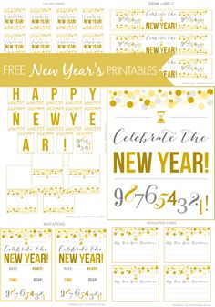 Free New Year's party printables! See more party ideas at CatchMyParty.com. #newyears #partyideas #freeprintables