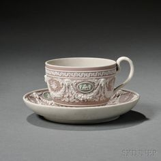 Wedgwood Three-color Jasper Dip Cup and Saucer