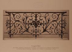 Archivbild: Villa Mohr, schmiedeeisernes Loggia-Gitter mit reichverzierten getriebenen Ornamenten
