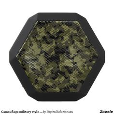 Camouflage military style pattern black bluetooth speaker
