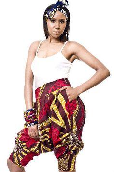 Zimbabwe  Gorgeous costumisable dashiki african shorts by MVDNC, $40.00
