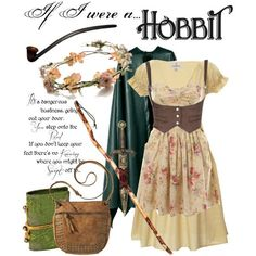"""I LOVE THIS!!! THIS IS CRAZY AWESOME!!! CAN I PLEEEEEAAAASE HAVE THIS?!?!? """"If I were a Hobbit"""" by ghsdrummajor on Polyvore - COSPLAY IS BAEEE!!! Tap the pin now to grab yourself some BAE Cosplay leggings and shirts! From super hero fitness leggings, super hero fitness shirts, and so much more that wil make you say YASSS!!!"""