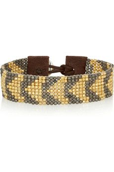 Chan Luu Gold-plated, gunmetal-plated and leather bracelet	 | NET-A-PORTER