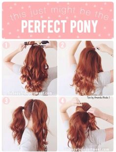 The Perfect Ponytail! #tipit #Beauty #Trusper #Tip