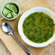 Indian-Spiced Slow Cooker Red Lentil Soup with Spinach and Coconut Milk from kalynskitchen.com