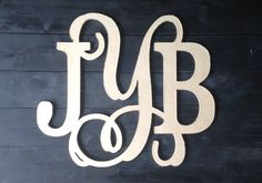 Mixed Font Monogram by ShoppeSwoon on Etsy