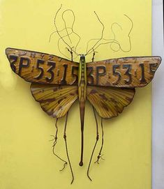 cool piece made from old license plate   # Pin++ for Pinterest #