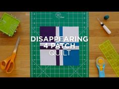 Make a Disappearing Four Patch - Quilt Snips