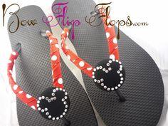 Mickey Mouse Rhinestone Disney Flip Flops