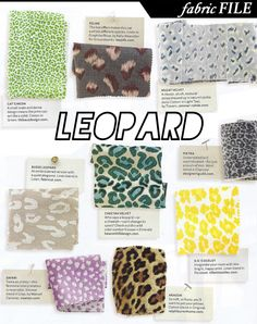 Add Animal Prints. LEOPARD in all colors!