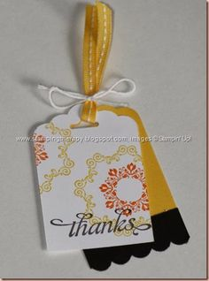 Melissa Buecher, Stampin' Up! Demonstrator, simple tag, daydream medallions, tag topper punch, layered tag