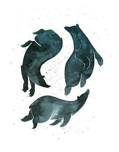 Ours de rêve imprimer ours dorment par CatherineLazarOdell