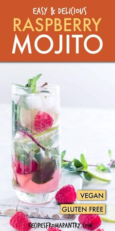 This fruity twist on the classic mojito uses raspberries to add both colour and a refreshing sharpness to make an awesome Raspberry Mojito. Made with only 6 ingredients you can follow my easy steps to make this ice-cold Raspberry Mojitococktail. recipesfromapantry.com #raspberrymojito #mojito #raspberrymojitorecipe #cocktail #mojitococktail #rumcocktail