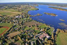 Meteorite crater lake Lappajärvi city.   South Ostrobothnia province of Western Finland. - Etelä-Pohjanmaa.