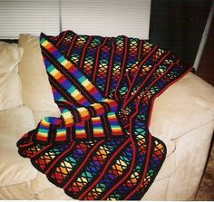 Stained Glass Scrap Afghan Pattern | Stained Glass Windows by Maiden-of-the-BH