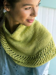 21ed2a24e5f1c2 Berroco Triteia Cowl Knitting Pattern with easy lace edge! Knitting  Designs