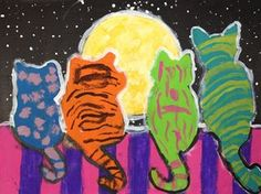 Check out student artwork posted to Artsonia from the Moon Watchers project gallery at Art Experience Studio.