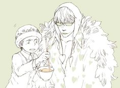 Checking the tea. Law and Corazon #onepiece