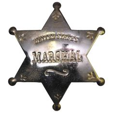 Authentic solid brass star shaped badge with United States MARSHALL stamped in the center. Adult Halloween, Halloween Costumes For Kids, Adult Costumes, Halloween Parties, Halloween Accessories, Costume Accessories, Marshall Costume, Police Officer Costume, Nightmare Before Christmas Decorations
